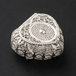 Portarosario cuore argento 800 filigrana s2