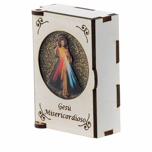 Portarosario de madera grabado láser Divina Misericordia s2