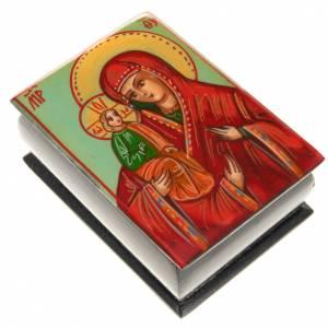 Portarosario icona dipinta Madonna con bimbo s1