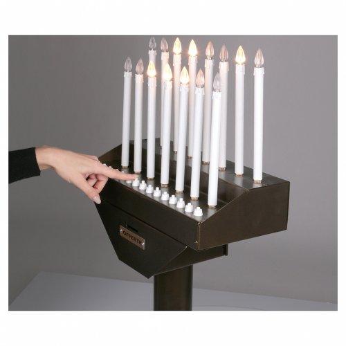 Porte-cierge électrique offrandes 15 bougies ampoules 12V boutons s5