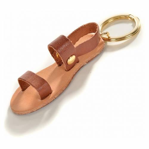 Porte-clé sandale franciscaine cuir s1