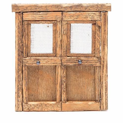 Porte pour crèche bois 13x11 cm s1