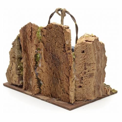 Pozzo presepe con parete di sughero 13x15x10 s3
