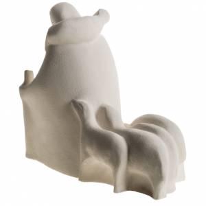 Presepe Adorazione 32.5 cm argilla refrattaria s13