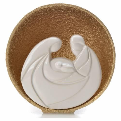 Presepe Perla Gold 14,5 cm argilla refrattaria s1