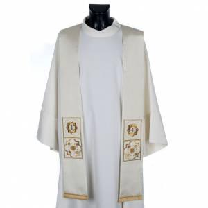 Priesterstolen: Priesterstola, Goldstickerei, Shantung