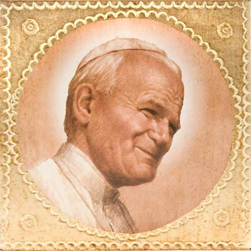 Print on wood John Paul II s1