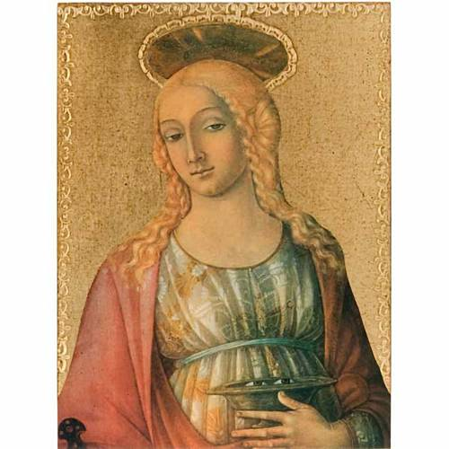 Print on wood, Saint Lucy s1