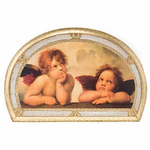 Print Raffaello's Angels, on wood panel s6