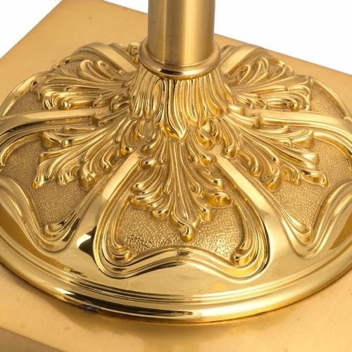Processional cross base in brass, baroque model s2