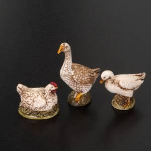 Zwierzęta do szopki: Ptactwo do szopki 10 cm 6 sztuk