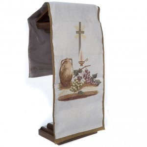 Pulpit cover with amphora grapes cross s4