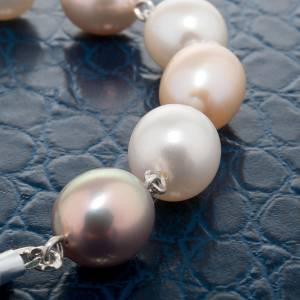 Pulsera decena plata y perlas de río s3