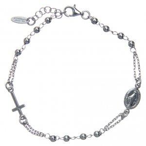 Pulseras AMEN: Pulsera rosario AMEN plata 925 acabado Rodio