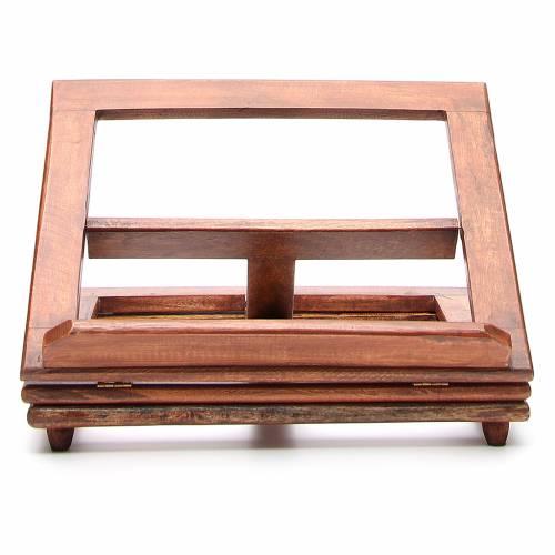 Pupitre de lecture, modèle en bois qui tourne s1