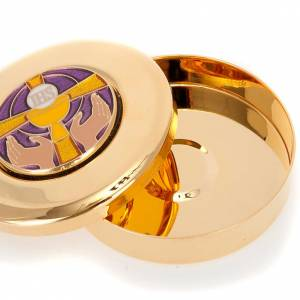 Pyx for big hosts with enameled IHS symbol s2