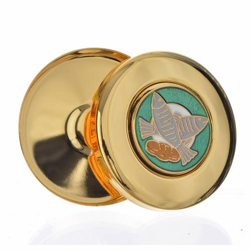 Pyx for Magna Host, enamelled with fish and loaves s2