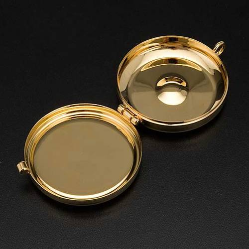 Pyx with Tau and cord plate in pewter s4
