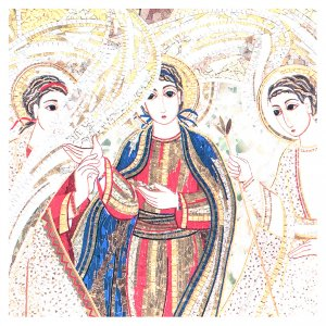 Quadretto Rupnik Trinità 10x15 cm s2