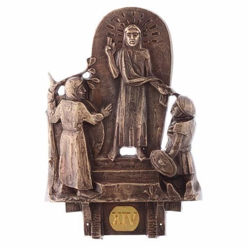 Stazioni Via Crucis 14 quadri bronzo s14