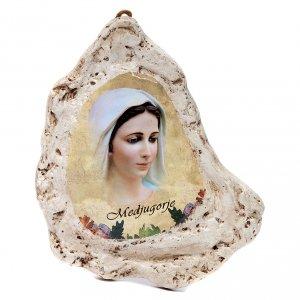 Quadro in gesso Madonna di Medjugorje s1