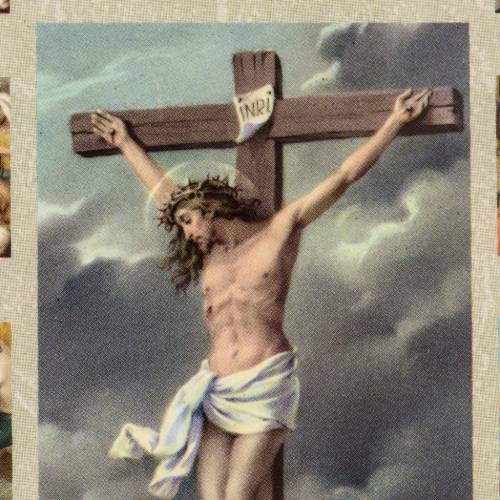Quadro Via Crucis con Crocifissione s2