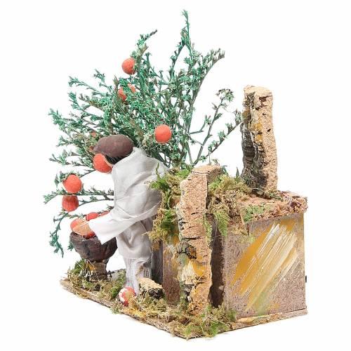 Raccoglitore di arance cm 10 movimento presepe s2