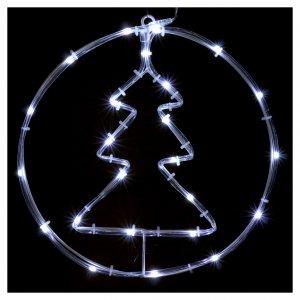 Árbol de Navidad luminoso 24 mini LED blanco frío INTERIOR batería s2