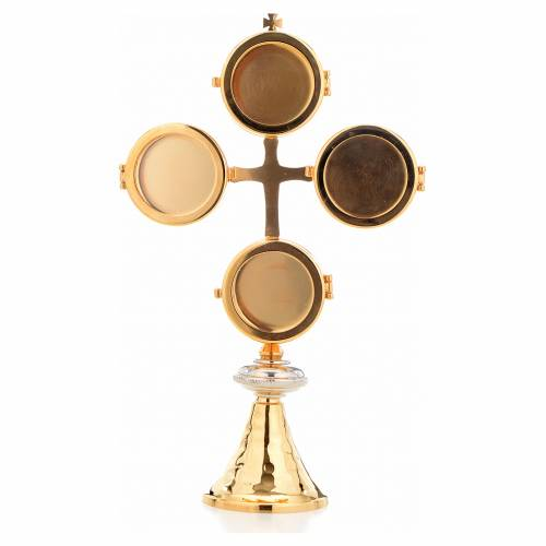 Reliquary with cross and 4 display cases s1