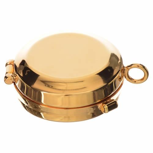 Reliquiario ottone dorato diam. 4 cm s3
