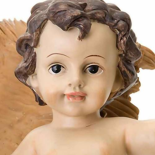 Resin Baby Jesus statue with cradle s3