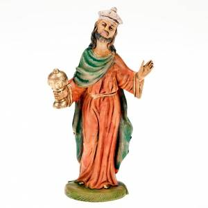 Figuras del Belén: Rey mago blanco 18 cm.
