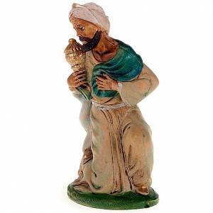 Figuras del Belén: Rey mago mulato 18 cm.