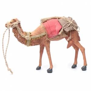 Rey magos y camello 35 cm de altura media resina s9