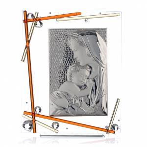 Ricordino Nascita Quadro Maternità Ambra 34x28 cm s1