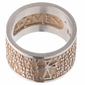 Gebetsringe: Ring AMEN Vater Unser vergoldeten Silber 925 ITALIENISCH