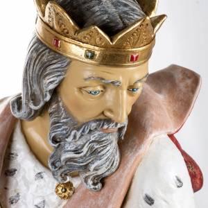Roi Mage blanc crèche Fontanini 125 cm résine s2