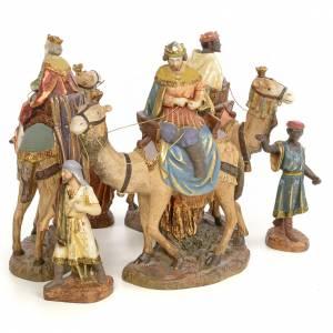 Rois Mages aux chameaux 20cm pâte à bois extra s3