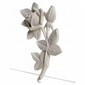 Rosa 11 cm, de mármol para aplicaciones s2