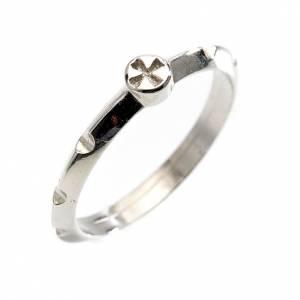 Anelli preghiera: Rosario anello decina argento 800