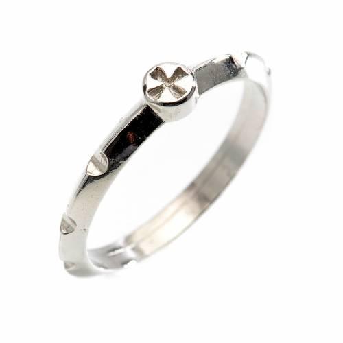 Rosario anello decina argento 800 s1