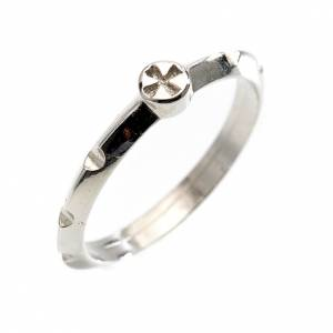 Rosario anillo plata decena  800 con cruz s1