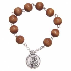Rosario basco legno medaglia San Benedetto s1