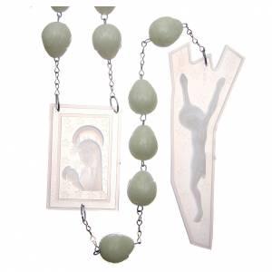 Rosari capoletto: Rosario capoletto plastica fosforescente 25 mm