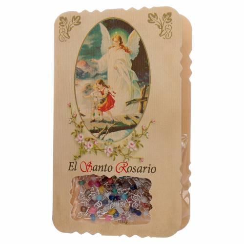 Rosario con pieghevole angelo custode, litanie e misteri s1