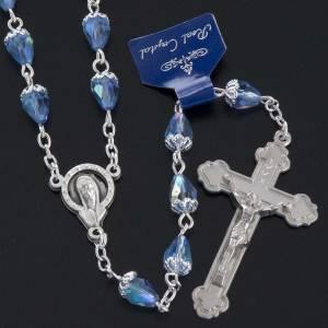 Rosarios de cristal: Rosario cuenta cristal gota azul