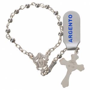 Rosari decina: Rosario decina in argento 800 lucido