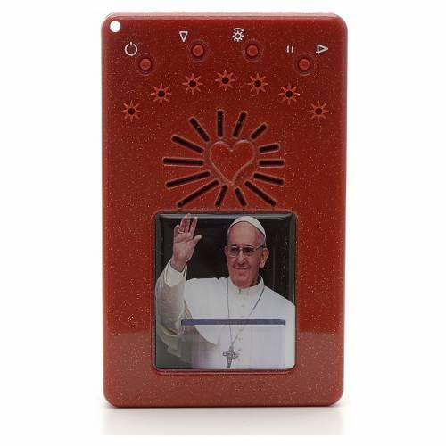 Rosario Elettronico Papa Francesco saluta rosso Litanie s1