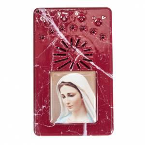 Rosario Rosso marmorizzato Coroncina Divina Misericordia s1