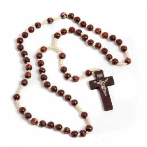 Rosario francescano intarsiato scuro s1